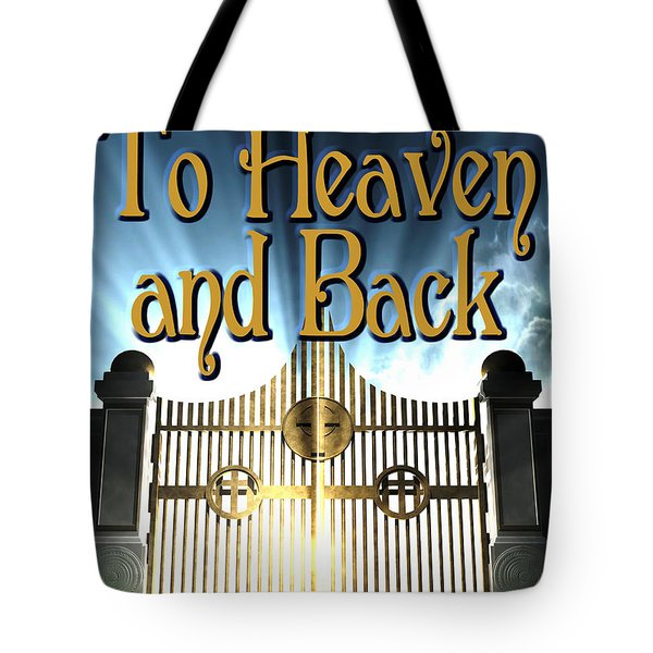 To Heaven And Back Book Cover Tote Bag by Mike Nellums