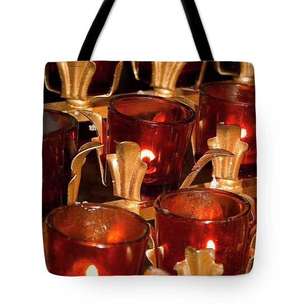 To Lite A Candle Tote Bag by Karol Livote