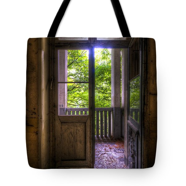To The Balcony Tote Bag by Nathan Wright