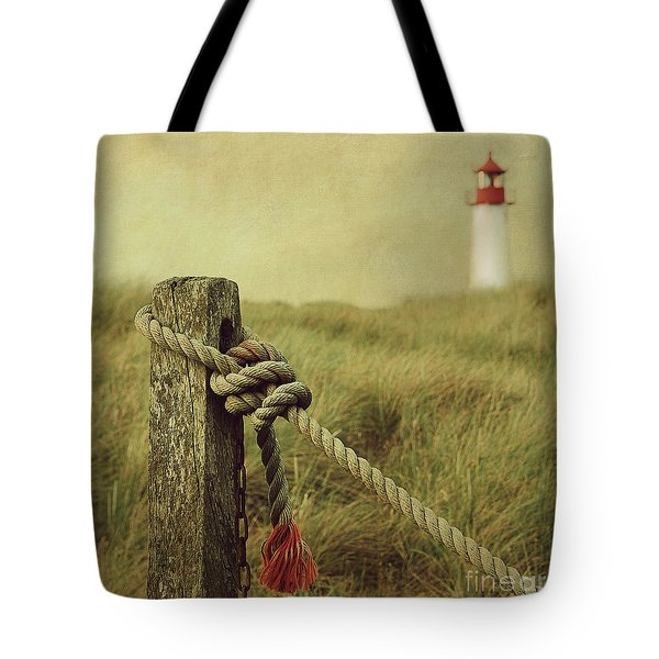 To The Lighthouse Tote Bag by Hannes Cmarits