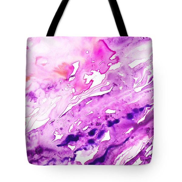 To The Unknown Abstract Path Number Seven Tote Bag by Irina Sztukowski