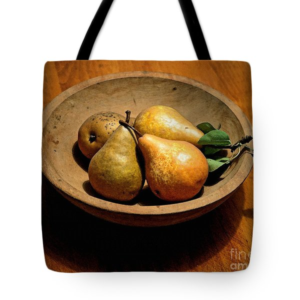 Today's Pears Tote Bag by Gwyn Newcombe