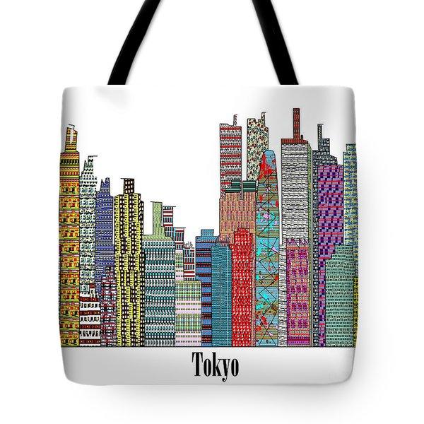 Tokyo City  Tote Bag by Bri B
