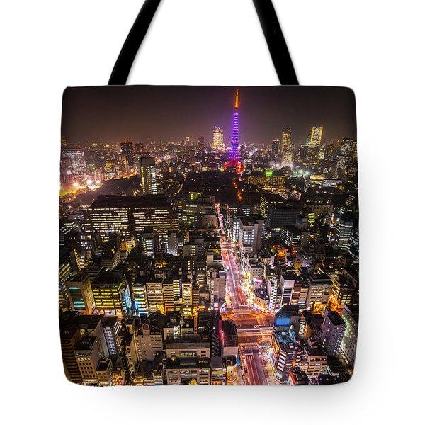 Tokyo Tower - Tokyo - Japan Tote Bag by Luciano Mortula