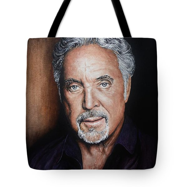 Tom Jones The Voice Tote Bag by Andrew Read
