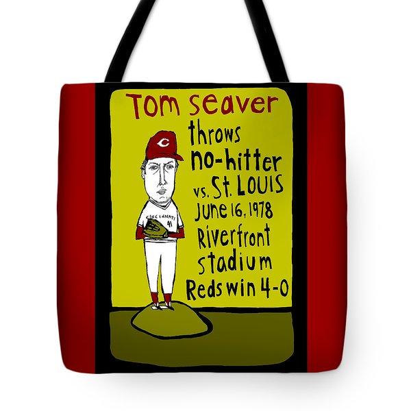 Tom Seaver Cincinnati Reds Tote Bag by Jay Perkins