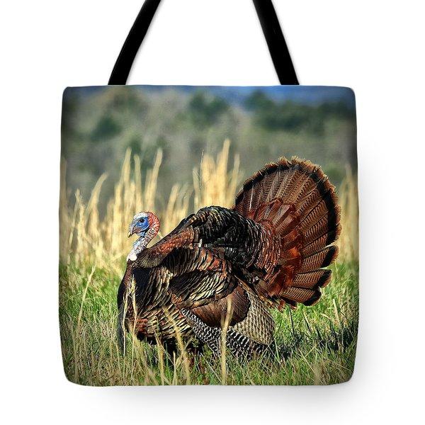 Tom Turkey Tote Bag by Jaki Miller