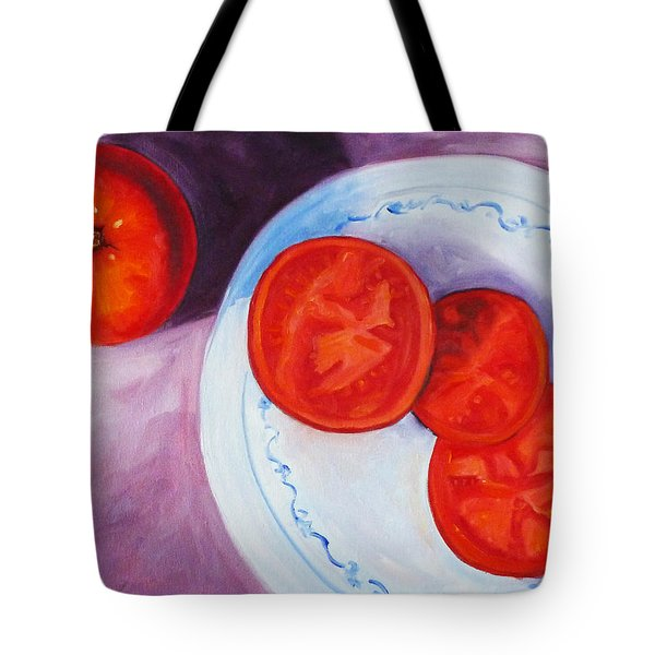 Tomato Tote Bag by Nancy Merkle