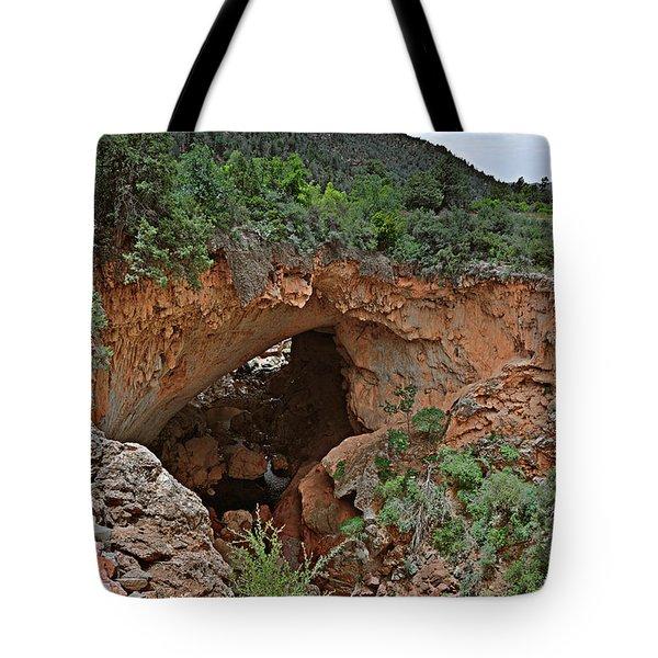 Tonto Natural Bridge Arizona Tote Bag by Christine Till