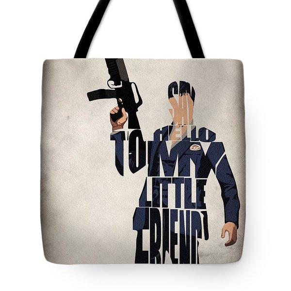 Tony Montana - Al Pacino Tote Bag by Ayse Deniz