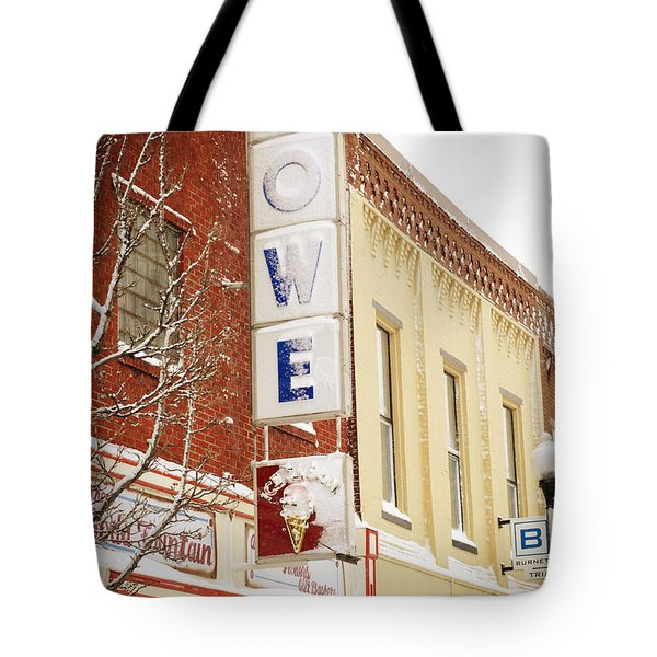 Too Cold For Ice Cream - Spring - Snow Storm - Weather 3 Tote Bag by Andee Design