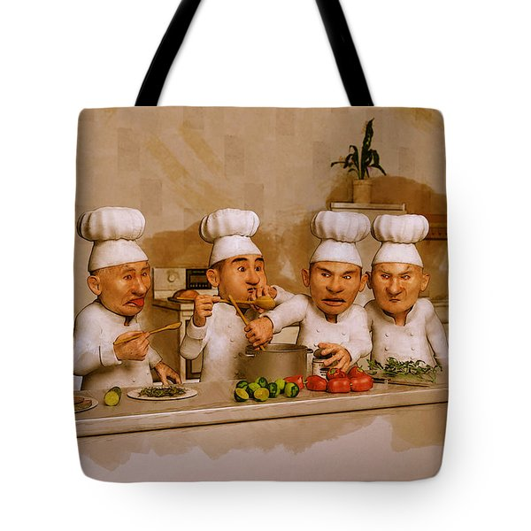 Too Many Cooks Spoil The Broth Tote Bag by Liam Liberty