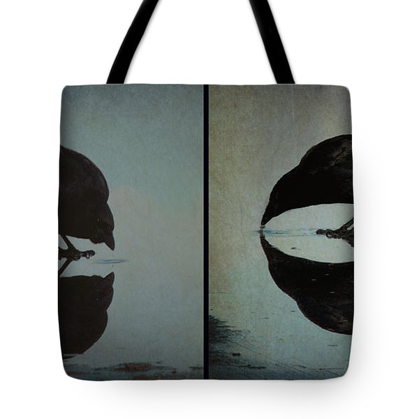Too Much Self Reflection Can Lead To Narcissism Tote Bag by Lisa Knechtel