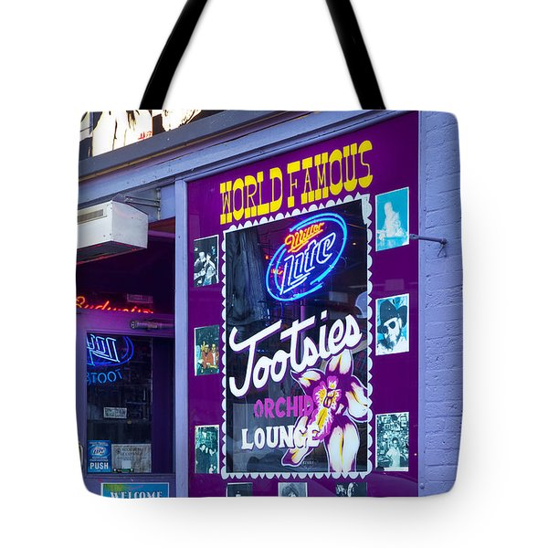 Tootsies Nashville Tote Bag by Brian Jannsen