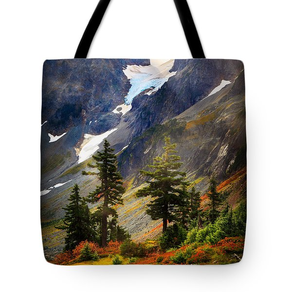 Top Of Cascade Pass Tote Bag by Inge Johnsson