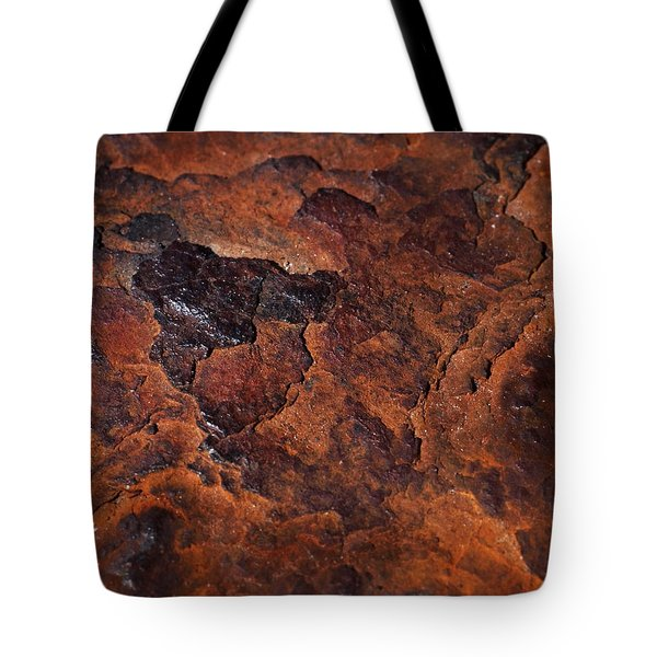 Topography Of Rust Tote Bag by Rona Black