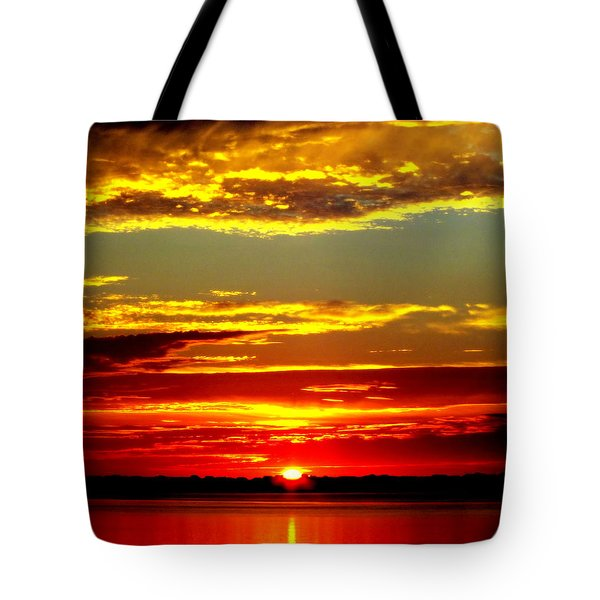 TOPSAIL ISLAND Tote Bag by KAREN WILES