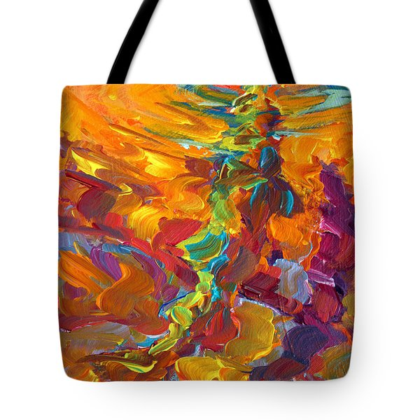 Topwater Trout Abstract Tour Study Tote Bag by Savlen Art