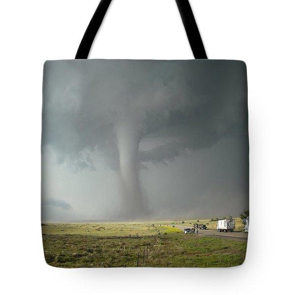 Tornado Truck Stop Tote Bag by Ed Sweeney