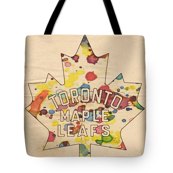 Toronto Maple Leafs Vintage Poster Tote Bag by Florian Rodarte