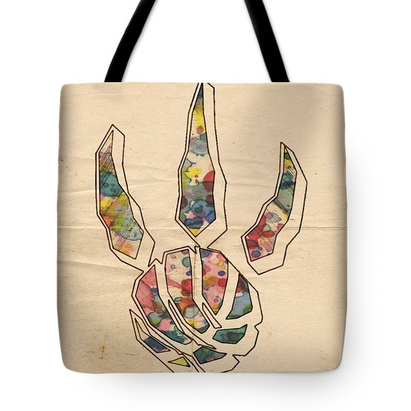 Toronto Raptors Logo Art Tote Bag by Florian Rodarte