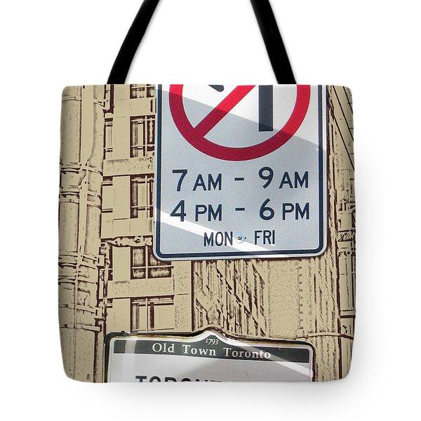 Toronto Street Sign Tote Bag by Nina Silver