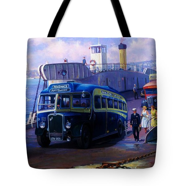 Torpoint Ferry. Tote Bag by Mike  Jeffries