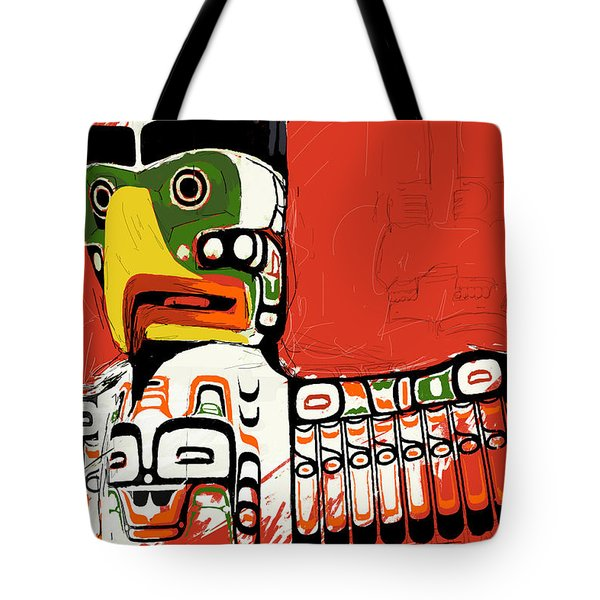 Totem Pole 02 Tote Bag by Catf