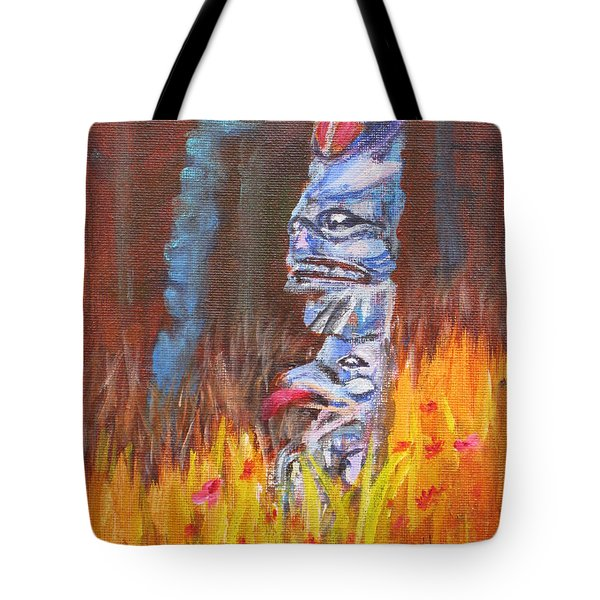 Totems Of Haida Gwaii Tote Bag by Mohamed Hirji