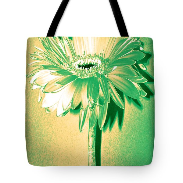 Touch Of Turquoise Zinnia Tote Bag by Sherry Allen