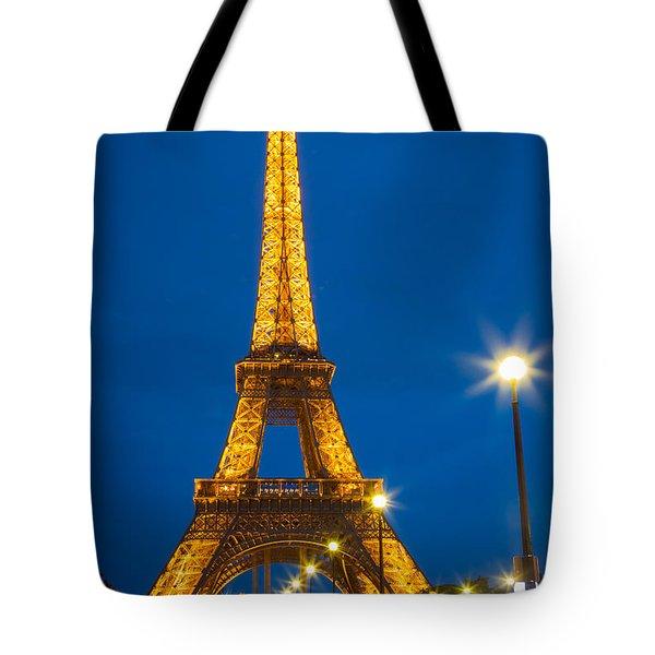 Tour Eiffel De Nuit Tote Bag by Inge Johnsson