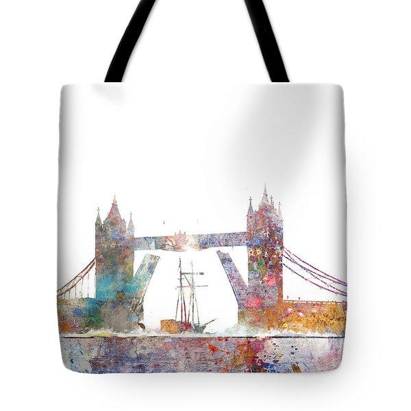 Tower Bridge Colorsplash Tote Bag by Aimee Stewart