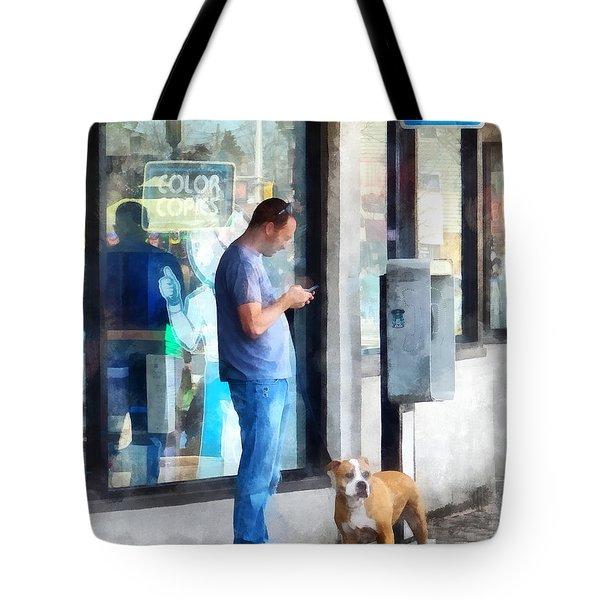 Towns - Pay Phone Tote Bag by Susan Savad