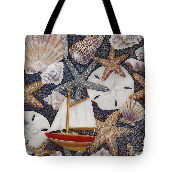 Toy Boat Tote Bag by Danielle  Perry