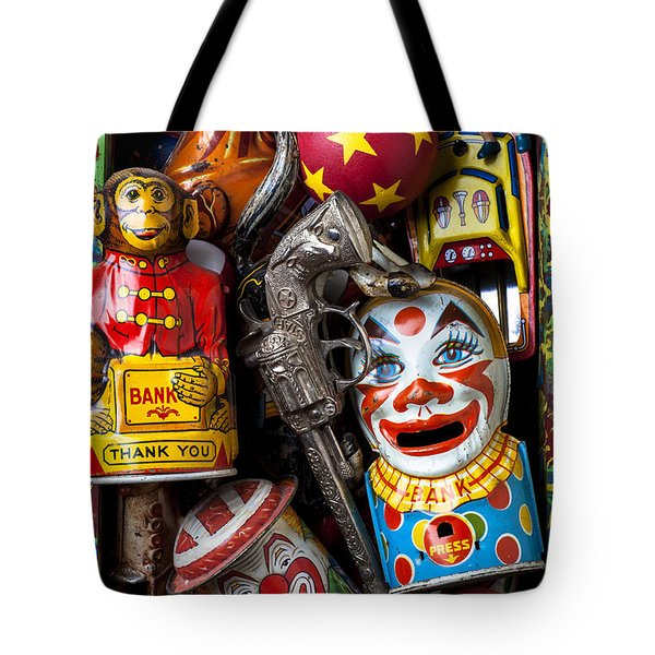 Toy box Tote Bag by Garry Gay