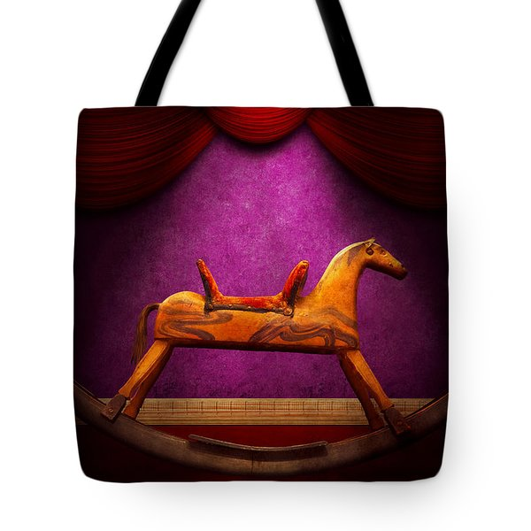 Toy - Hobby horse Tote Bag by Mike Savad