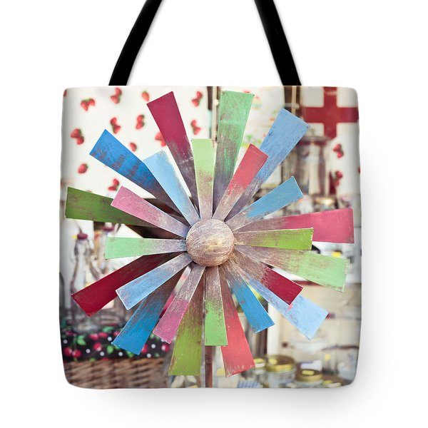 Toy windmill Tote Bag by Tom Gowanlock