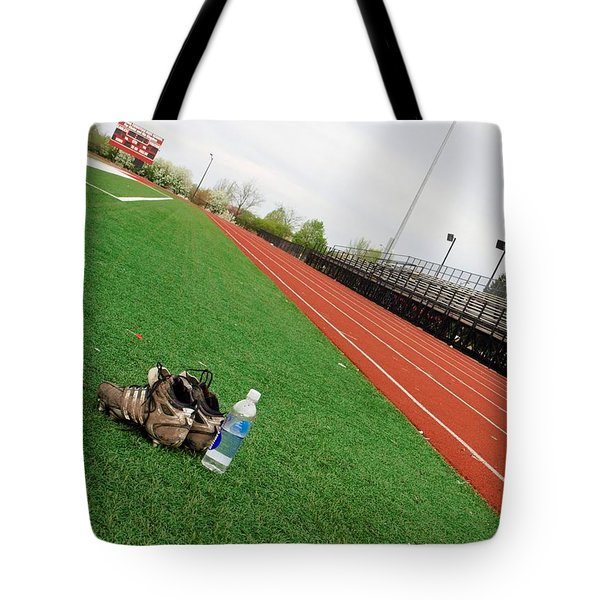 track and field Tote Bag by Tom Druin