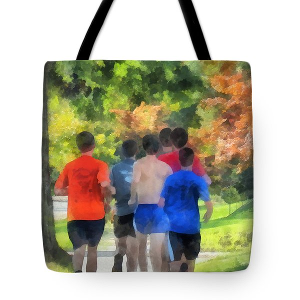 Track Practice Tote Bag by Susan Savad