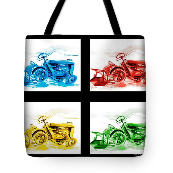 Tractor Mania Iv Tote Bag by Kip DeVore