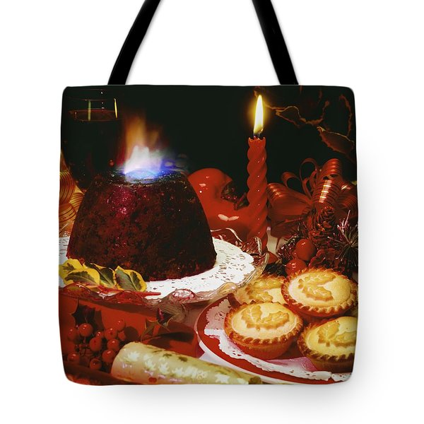 Traditional Christmas Dinner In Ireland Tote Bag by The Irish Image Collection