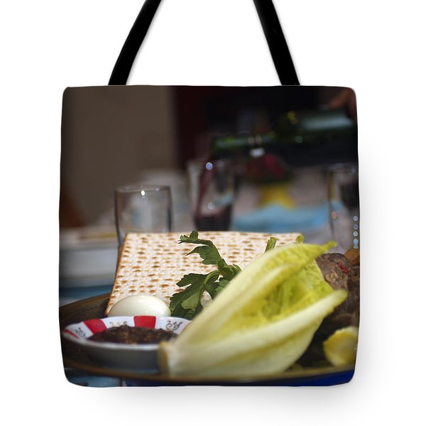 Traditional sedder table Tote Bag by Ilan Rosen