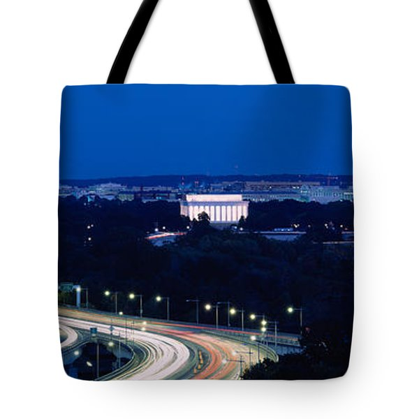 Traffic On The Road, Washington Tote Bag by Panoramic Images