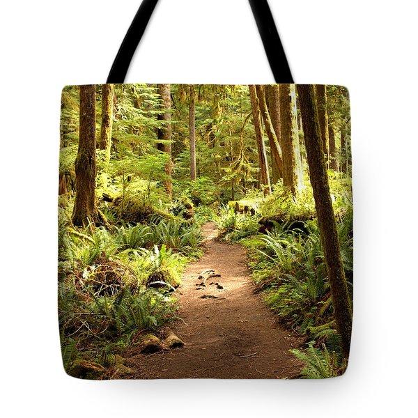 Trail through the Rainforest Tote Bag by Carol Groenen