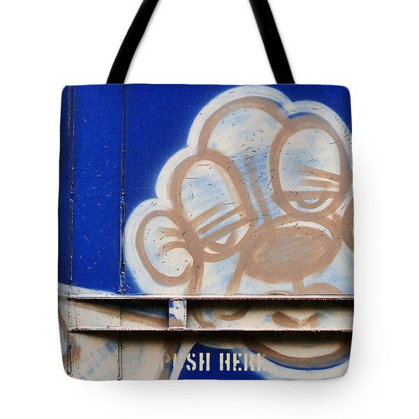 Train Art Cartoon Dog Tote Bag by Carol Leigh