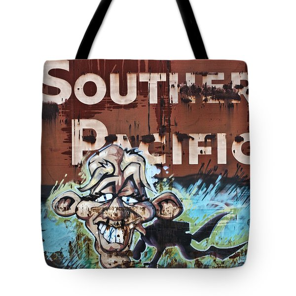 Train Art Swimming With Sharks Tote Bag by Carol Leigh