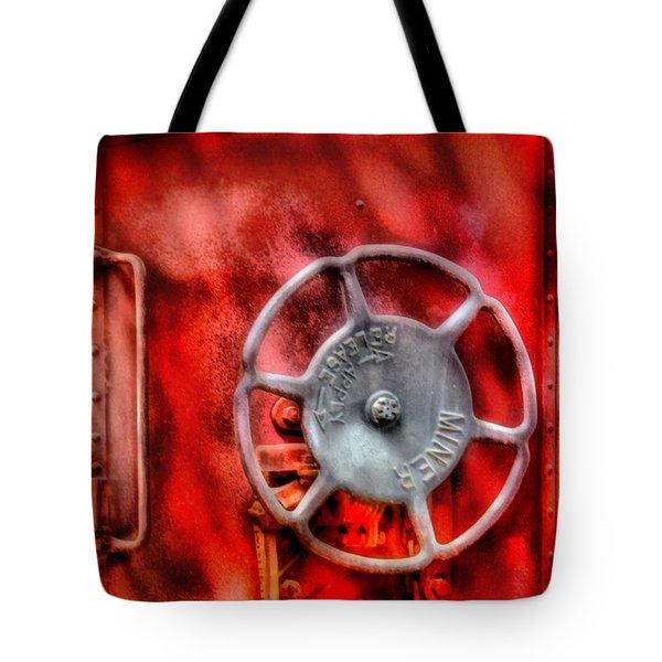 Train - Car - The Wheel Tote Bag by Mike Savad