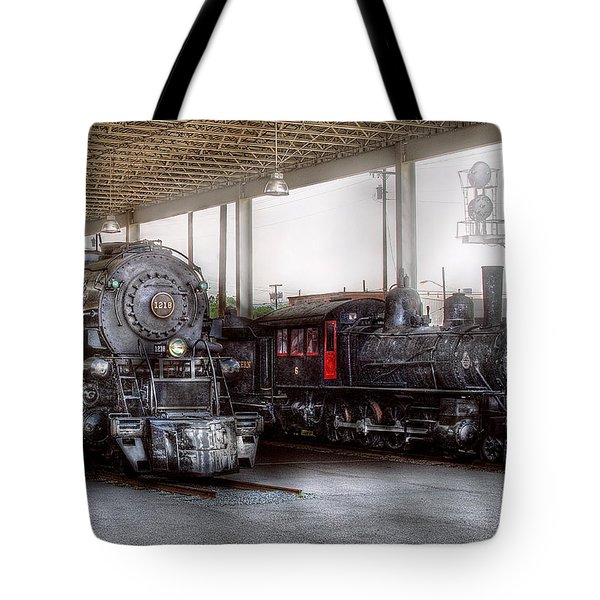 Train - Engine - 1218 - End Of The Line  Tote Bag by Mike Savad