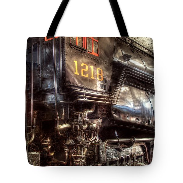 Train - Engine - 1218 - Norfolk Western - Class A - 1218 Tote Bag by Mike Savad