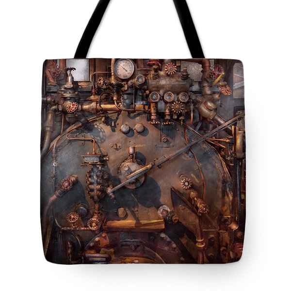 Train - Engine - Hot under the collar  Tote Bag by Mike Savad